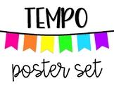 Tempo Poster Set - White & Neon