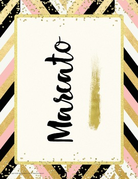 Tempo Posters {34 Tempo Terms: Chic & Glam Music Decor}