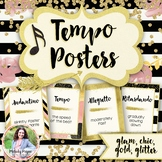 Tempo Posters {34 Tempo Terms: Chic & Glam Music Decor}
