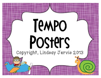 Tempo Posters- Bright Colors