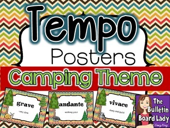 Tempo Posters - Camping Theme