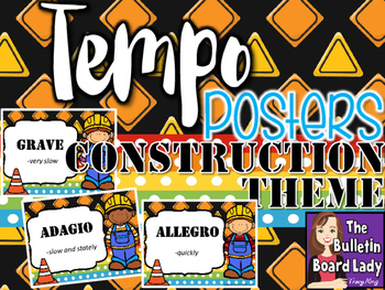 Tempo Posters Construction Theme