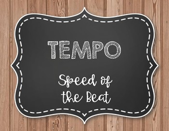 Tempo Posters - Farmhouse Style Wooden/Chalkboard