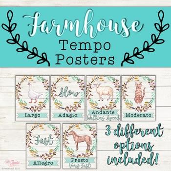 Tempo Posters - Farmhouse Theme