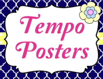 Tempo Posters {Garden of Music}