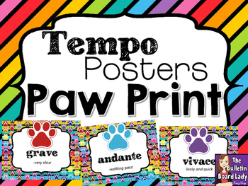 Tempo Posters  Paw Prints Theme