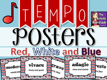 Tempo Posters - Red White and Blue