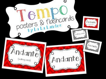 Tempo Posters and Flashcards
