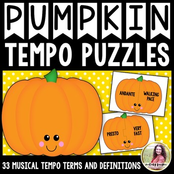 Tempo Puzzles {33 Pumpkin-Themed Tempo Terms & Definitions}