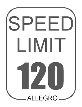 Tempo Speed Limit signs