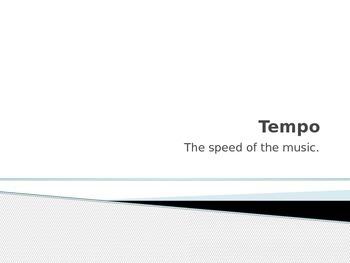 Tempo Terms
