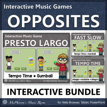 Tempo Music Opposites ~ Interactive Music Games Bundle {gumball}