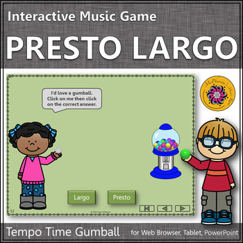 Tempo Time with Presto and Largo Interactive Music Game (gumball)