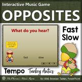 Thanksgiving Music ~ Tempo Fast Slow Interactive Music Game {Turkey Antics}