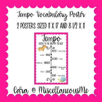 Tempo Vocabulary Poster