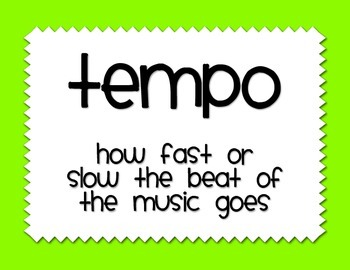 Tempo Vocabulary Posters - Solid Bright Colors