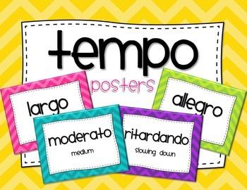 Tempo Vocabulary Posters - Chevron