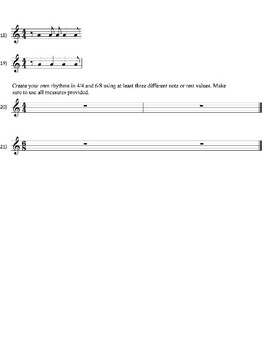 Tempo Vocabulary/Rhythm Test