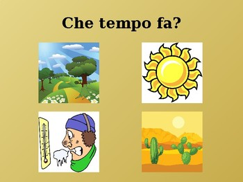 Tempo (Weather in Italian) power point
