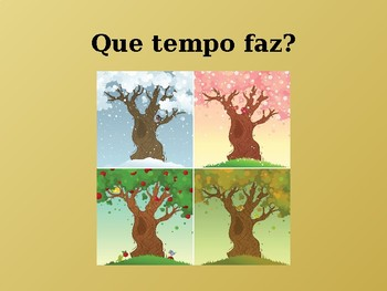 Tempo (Weather in Portuguese) power point