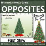 Christmas Music Game: Tempo Fast Slow {Interactive} Decorate the Tree