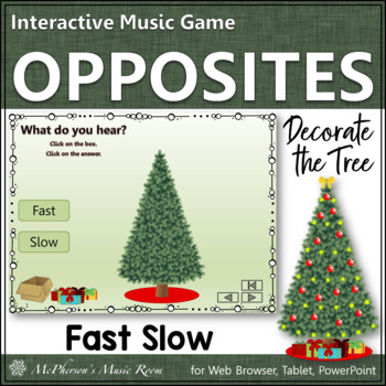 Fast or Slow Interactive Music Game {Decorate the Christmas Tree}