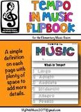 Tempo in MUSIC Flip-Book: largo, adagio, andante, allegro,