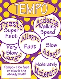 Tempo music poster
