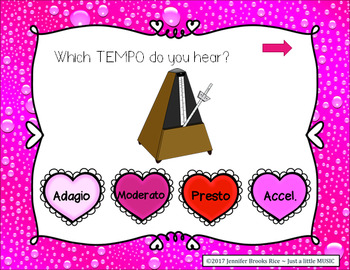 Tempo of my Heart -- aural recognition practice game for speed in music