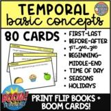Temporal Basic Concepts Flip Book + Digital BOOM CARDS Spe