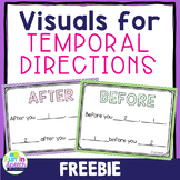 Temporal Direction Visuals FREEBIE - Great for Following Directions
