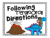 Temporal Directions Worksheet