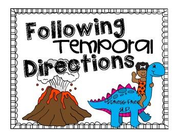 Temporal Directions Worksheet