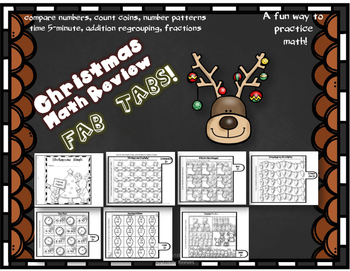 Dollar Deal! Christmas Math Fab Tabs!