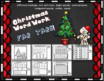 Dollar Deal! Christmas Word Work Fab Tab