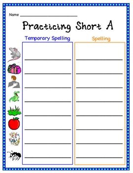 Temporary Spell, Find, and Write Short Vowel Words