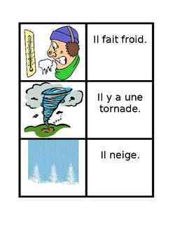 Temps (Weather in French) Concentration games