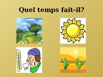 Temps (Weather in French) power point