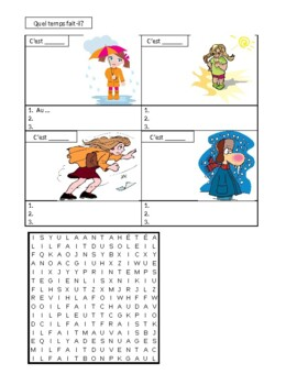 Temps (Weather in French) worksheet 2