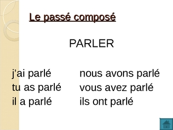 Temps des verbes (Verb tenses in French) power point
