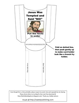 Temptation of Jesus Put in Order Cards Freebie