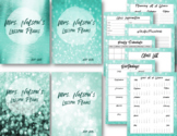 Sparkling Teal Editable Lesson Planner / Binder 2018-2019