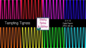 Tempting Tigress (8 Digital Papers for Personal/Commercial Use)