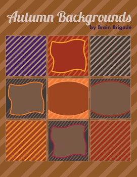 Ten {10} Fall and Autumn Background Clip Art | Brown, Purp