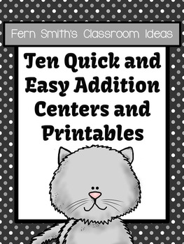 Addition Quick and Easy to Prep Math Center Game Bundle