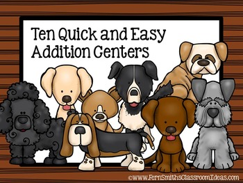 Addition Strategies Ten Quick and Easy to Prep Math Center Games
