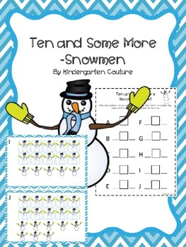 Ten And Some More Count The Room - Snowmen (January/December)