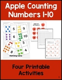 Ten Apples: Printable Activities for Counting from 1-10