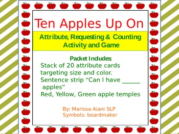 Ten Apples Up On Top- Attribute, Requesting & Counting  Activity and Game