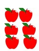 Ten Apples Up On Top Frame and Fans